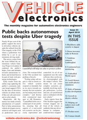 Vehicle Electronics April 2018 cover
