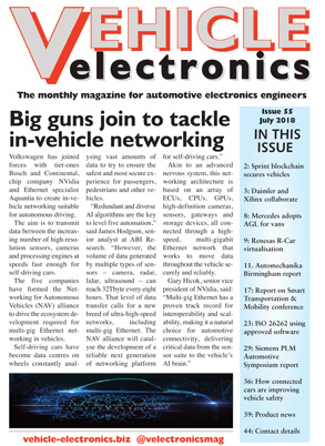 Vehicle Electronics July 2018 cover
