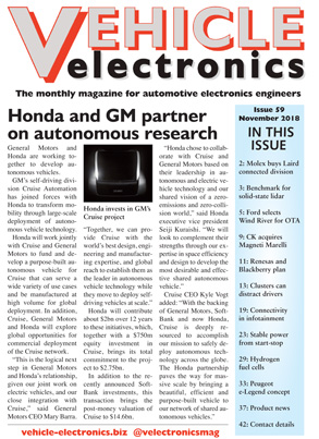 Vehicle Electronics November 2018 cover