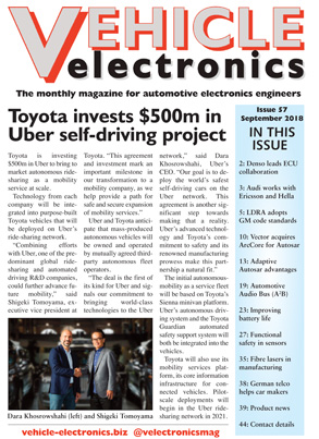 Vehicle Electronics September 2018 cover