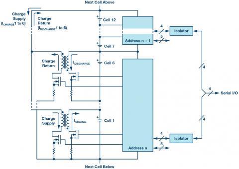 High efficiency, bidirectional, multi-cell active balancer