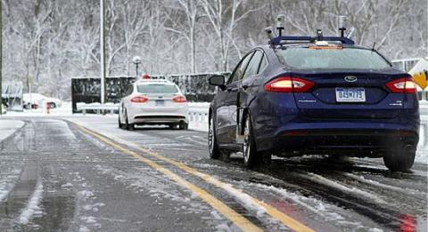 Autonomous vehicles being tested in bad weather conditions