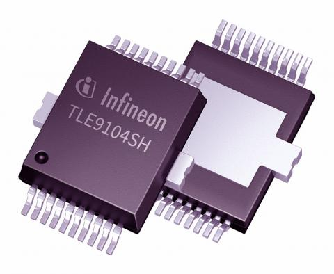 Infineon TLE9104SH four-channel low-side switch