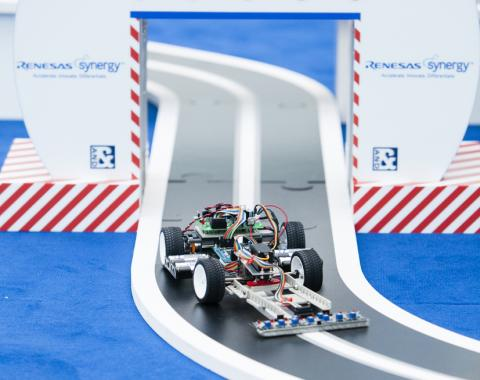 Student-designed model racing car