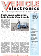 Vehicle Electronics April 2018 cover