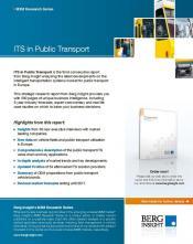 Berg Insight report into intelligent transport systems