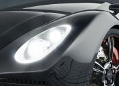 Three of the 1024-pixel LEDs have already been used in the headlamps of a Daimler test vehicle