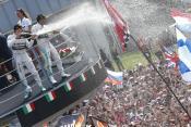Podium celebrations in Monza