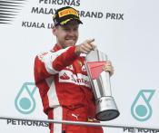 Back on top: Sebastian Vettel in Malaysia