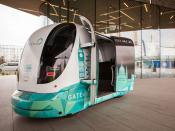 One of the Gateway driverless vehicles