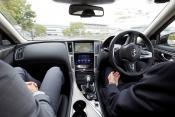 Nissan autonomous driving test in Tokyo