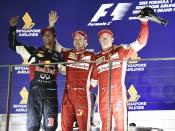A rather different looking podium last time in Singapore